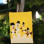 MOM Tip: Hand Print Snowman Ornaments
