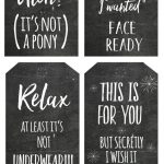 Free Honest Christmas Chalkboard Gift Tag Printables