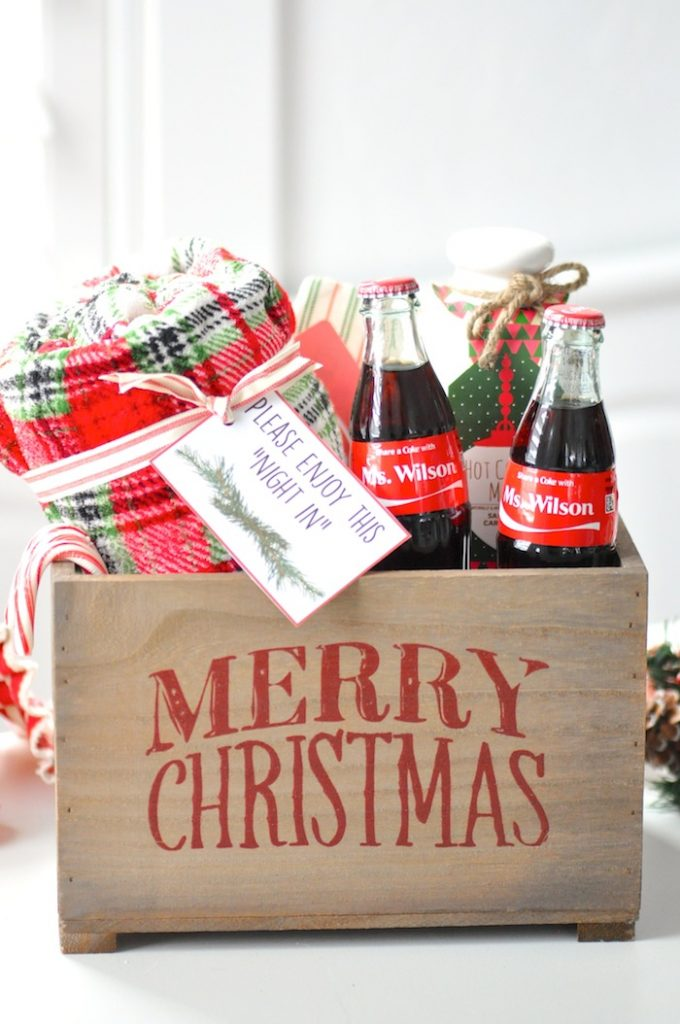 Teacher-appreciation-Christmas-Holiday-gift-idea-Night-in-with-share-a-coke-by-Karas-Party-Ideas-2