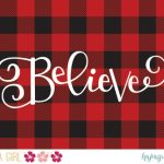 "Free ""Believe"" Christmas Printable"