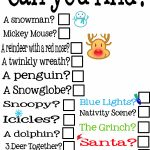 Free Holiday Scavenger Hunt Printable