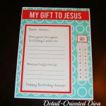 Free Birthday Party for Jesus Gift Printable