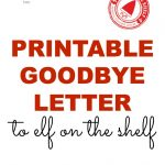 Free Goodbye Letter From Elf On The Shelf Printable