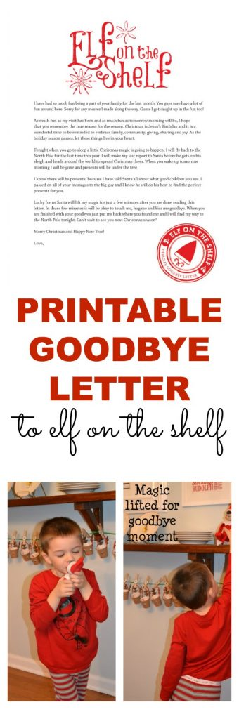 Geeky image regarding printable elf on the shelf goodbye letter