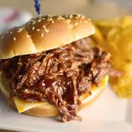 Simple BBQ Beef Sandwiches in the Crock Pot