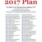 Free 52 Weeks To An Organized Home Printable