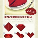Heart Shaped Napkin Folding How To