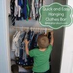 MOM Tip: DIY Hanging Clothes Bar