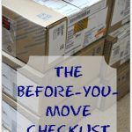 MOM Tip: Before you Move Checklist