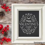 Free Chalkboard Happy Valentine's Day Printable