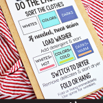 Free How To Do The Laundry Printable