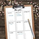 Free New Year's Resolutions Printable