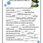 FREE Winter Mad Lib Printables