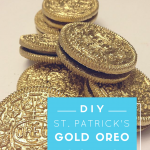 Use Edible Gold To Spray On Oreos To Make Gold Coins On St Patrick's Day