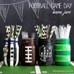 MOM Tip: Football Party Mason Jars