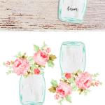 Free Mason Jar Floral Tag Printables