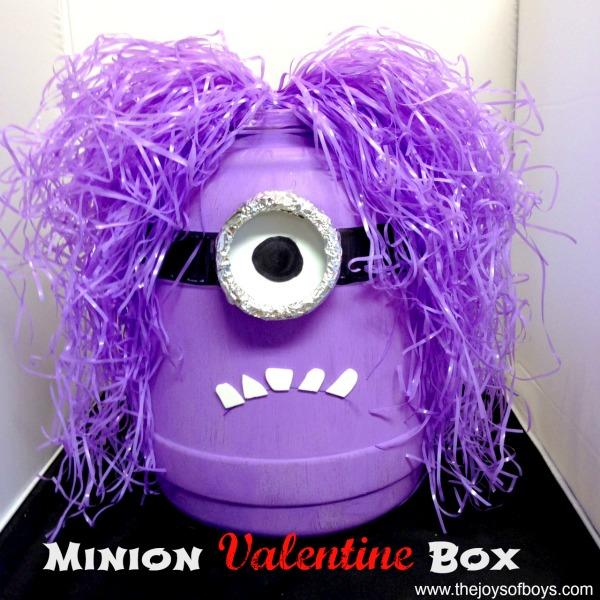 Minion Valentine Box By The Joys Of Boys   Valentines Box Ideas