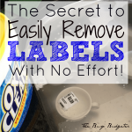 MOM Tip: How to Remove Labels Easily