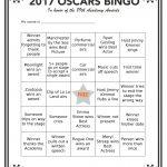 Free 2017 Oscar Bingo Printables