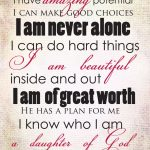 Free POSITIVE AFFIRMATIONS PRINTABLE