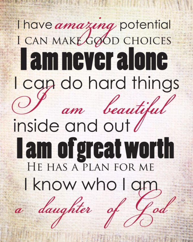 image regarding Printable Positive Affirmations named Cost-free Beneficial AFFIRMATIONS PRINTABLE - 24/7 Mothers