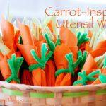 MOM Tip: Carrot-Inspired Utensil Wraps