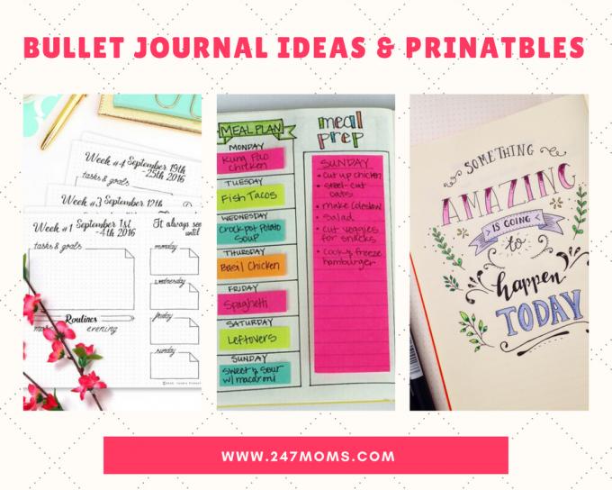 FREE Bullet Journal Ideas amp Prinatbles 247 Moms