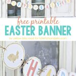 Free Happy Easter Banner Printable