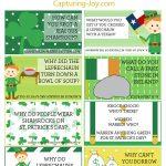 Free St. Patricks Day Lunch Box Joke Printables