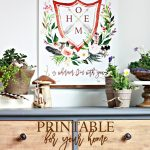 Free Watercolor Floral Crest Printable