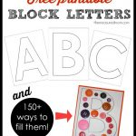Free Block Letter Printables