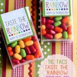 Free Tic Tac Taste the Rainbow Printable