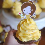 Free Beauty and the Beast Cupcake Topper Printable