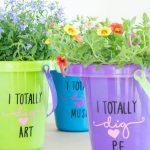 MOM Tip: Flower Pail Gifts for Teacher