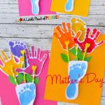 MOM Tip: Handprint & Footprint Flowers & Vase Craft