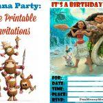 Free Moana Birthday Party Printable Invitations
