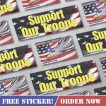 "FREE ""Support Our Troops"" Sticker"