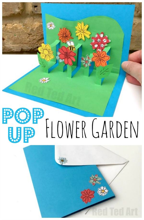 Mom tip diy 3d flower card for kids to make for mom 24 for Pop up birthday cards for mom