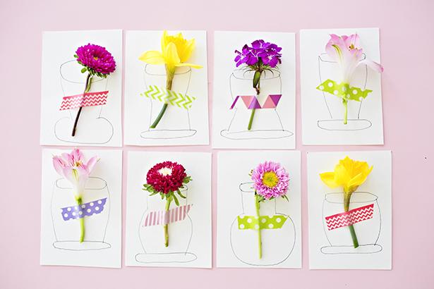 6 3d Flower Vase Cards 247 Moms