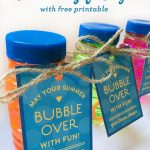 Free Bubble Gift Tag Printable