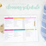 Creating A Cleaning Schedule With Free Printables