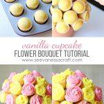 MOM Tip: Vanilla Cupcake Flower Bouquet Tutorial