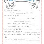 "Free ""My Daddy"" Printable"