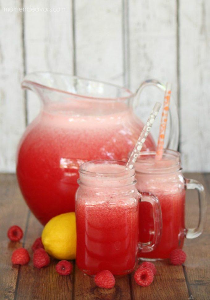 Sparkling Raspberry Lemonade from Mom Endeavors