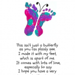 Free Footprint Butterfly Mother's Day Poem Printable