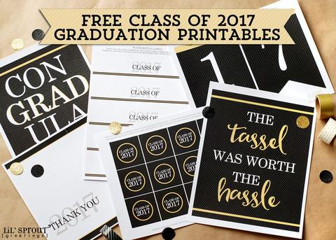picture about Free Printable Graduation Labels identified as Free of charge Cl of 2017 Commencement Printables - 24/7 Mothers