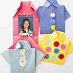MOM Tip: DIY Origami Shirt Father's Day Card