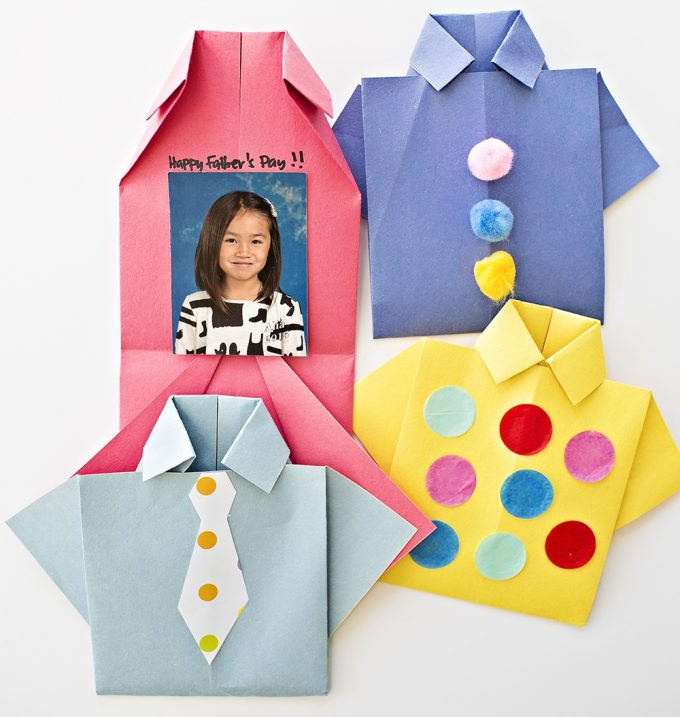 Mom Tip Diy Origami Shirt Fathers Day Card 247 Moms