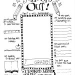 Free End of School Memory Printable
