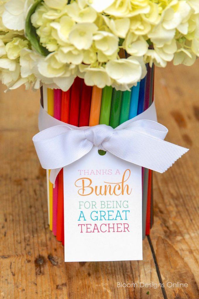 Free Thanks A BUNCH Teacher Gift Printable 247 Moms